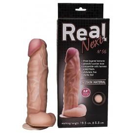 Крупный фаллоимитатор на присоске REAL Next №56 - 22,5 см.